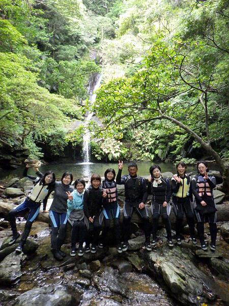 沢登りツアー グループ写真